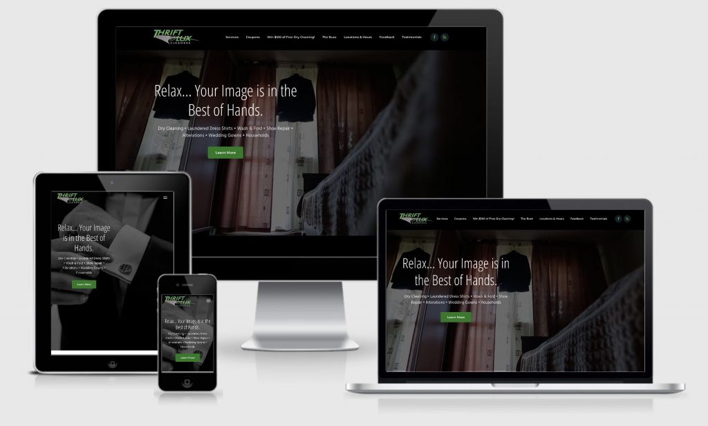 New WordPress web design for Thrift DLux.